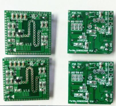板式微波感应模块,其外观精美,产品电路结构简洁紧凑,性能稳定而成本